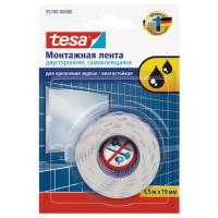 Лента клейкая двусторонняя для крепления зеркал Tesa Powerbond 19 мм x 1.5 м цвет белый