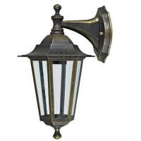 Настенный светильник уличный вниз Inspire Peterburg 1xE27х60 Вт, алюминий/стекло, цвет бронза
