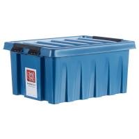Контейнер Rox Box 30x19x40 см, 16 л, пластик цвет синий с крышкой