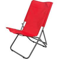 Шезлонг «Супернадежный отдых», металл/полиэстер, цвет красный