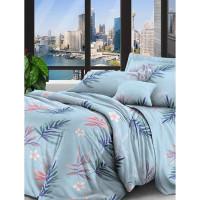 Комплект постельного белья евро Текстильная лавка Яркий букет , микрофибра