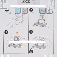 Мыльница подвесная на присоске Sensea «Smart Lock», цвет хром