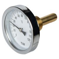 """Термометр для воды с гильзой, 120 градусов, 1/2 """"34;"""