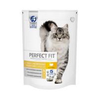 Сухой корм PERFECT FIT для взрослых кошек с чувствительным пищеварением, с индейкой, 650г