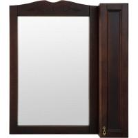 Шкаф зеркальный «Retro» 85 см цвет орех
