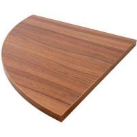 Полка мебельная угловая 350x350x16 мм, ЛДСП, цвет орех антик