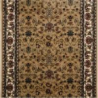 Дорожка ковровая «Супер Акварель 99124-55» полипропилен 1 м цвет бежевый