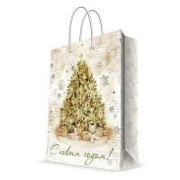 Пакет подарочный «Подарки под елкой» 26x32 см