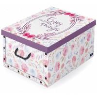 Коробка с ручками Domo Pak Цветы, 39х50x24 см, картон