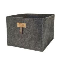 Короб для хранения InSmart 25х30х20 см тёмно-серый