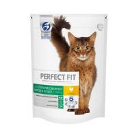 Сухой корм PERFECT FIT для стерилизованных котов и кошек, с курицей, 650г