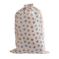 Мешочек для подарков «Снежинки» с завязками х/б 30x45 см