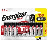 Батарейка алкалиновая Energizer Max AA, 16 шт.
