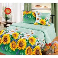Комплект постельного белья MILANIKA Подсолнухи двуспальный, бязь, 70x70 см