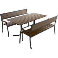 Комплект садовой мебели «Кантри» 1 стол и 2 лавки