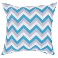 Подушка декоративная «Зиг-заг» 40х40 см цвет бирюзовый