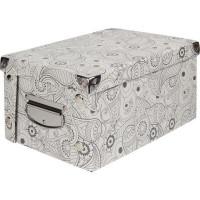 Коробка картон 35x25x17.5 см, узор