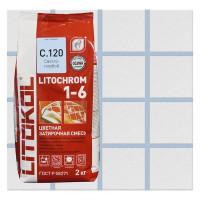 Затирка цементная Litochrom 1-6 С.120 2 кг цвет светло-голубой