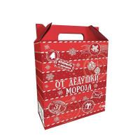 Коробка для кондитерских изделий «От Дедушки Мороза» картон 27х19.5х8 см
