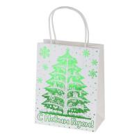 Пакет подарочный крафт «Зеленая ёлочка» 26x32 см