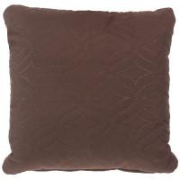 Подушка стёганая «Melissa» 40х40 см цвет коричневый