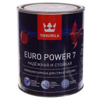 Краска Tikkurila Euro Power-7 цвет белый база А 0.9 л