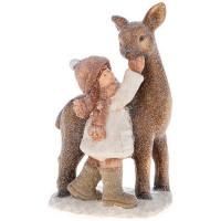 Декоративная фигурка Lefard Детишки в снегу 248-050