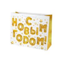Пакет подарочный «Новогодний звездопад» 41x33 См