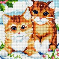 Алмазная мозаика Белоснежка Рыжие котята 370-ST-S