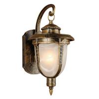 """Настенный светильник уличный вниз Elektrostandard """"34;Atlas """"34; 1xE27х60 Вт, цвет чернёное золото, IP44"""