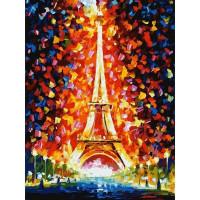 Картина по номерам на картоне Белоснежка Париж огни Эйфелевой башни 3026-CS