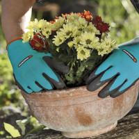 Перчатки нейлоновые с латексом Gardena размер 8