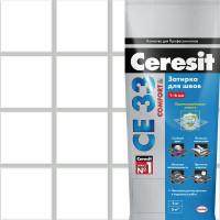 Затирка для узких швов Ceresit CE 33 «Comfort», ширина шва 2-6 мм, 2 кг, сталь, цвет светло-серый