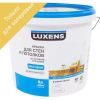 Краска для колеровки для стен и потолков в спальне Luxens прозрачная база C 5 л