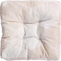 Сидушка для стула «Призма», 40х40 см, цвет бежевый