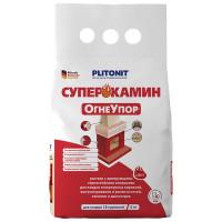 Раствор для кладки огнеупорных кирпичей Плитонит СуперКамин ОгнеУпор 4 кг